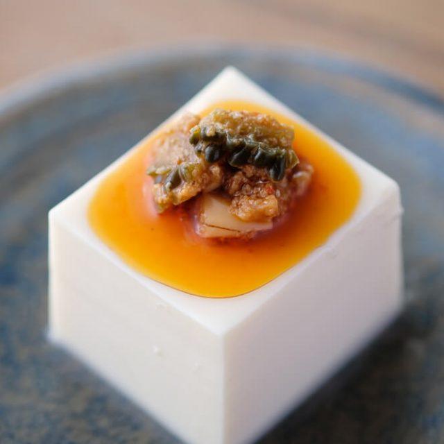 ゴーヤの胡麻味噌ラー油