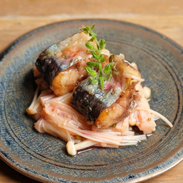 秋刀魚とえのきの梅酢南蛮漬け
